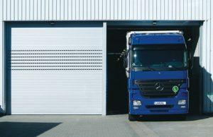 Porte de garage industrielle enroulable en aluminium automatique - LAKAL - Gironde
