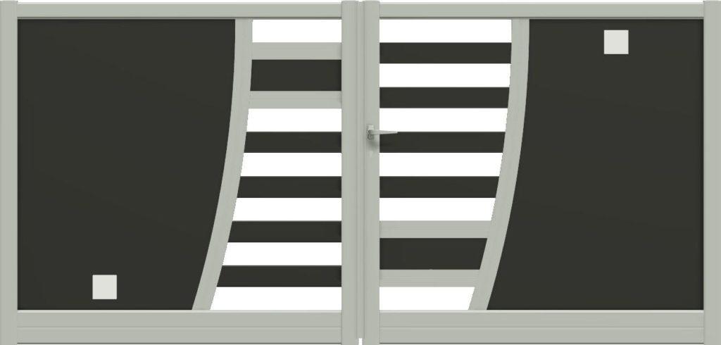 Portail aluminium design haut gamme CETAL - Gironde - Aquitaine - 33
