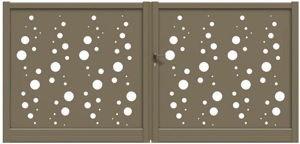Portail battant Design avec découpes laser en alu CETAL - Gironde - Aquitaine - 33
