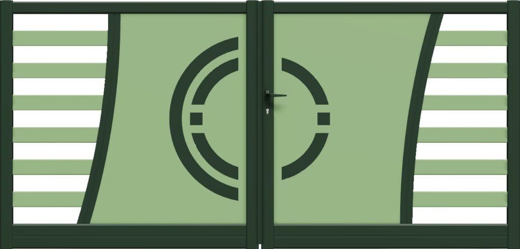 Portail moderne Bicolor en aluminium design CETAL - Gironde - Aquitaine - 33